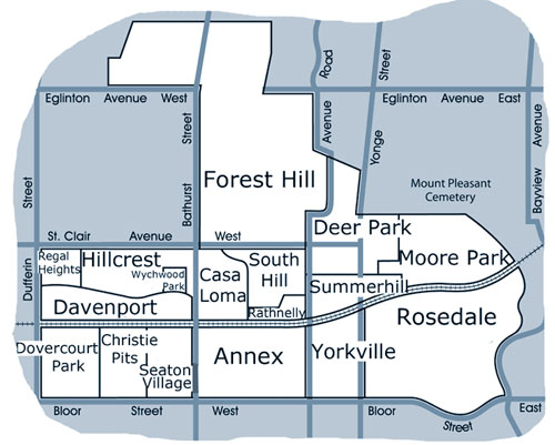 Map of Midtown Toronto