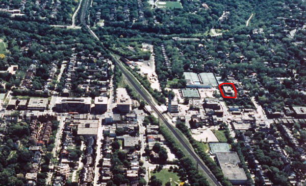 Aerial view of the Summerhill area